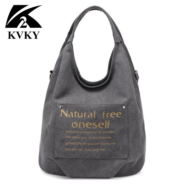 1c27c0ebe64a KVKY Women Casual Handbags New Stylish Female Shoulder Bags sac a main  bolsos 2018 New Ladies Canvas Messenger Bags casual Totes