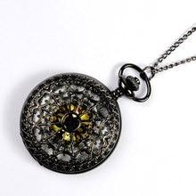 Classic Fashion Hollow Spider Web Watch Retro Wild Quartz Large Black Pocket Watch Men And Women Antique Gift Temperament Watch цены онлайн