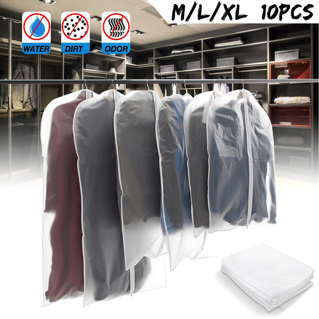 30ec461f255 10Pcs M L XL Home Storage Protect Cover Case Travel Bag for Garment Suit  Dress Clothes Coat Jacket Pouch Dustproof Storage Bags