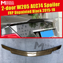 W205 C63 look Trunk spoiler wing FRP Unpainted 74 Style Fits For MercedesMB C180 C200 C250 2 door Rear Tail  15-18