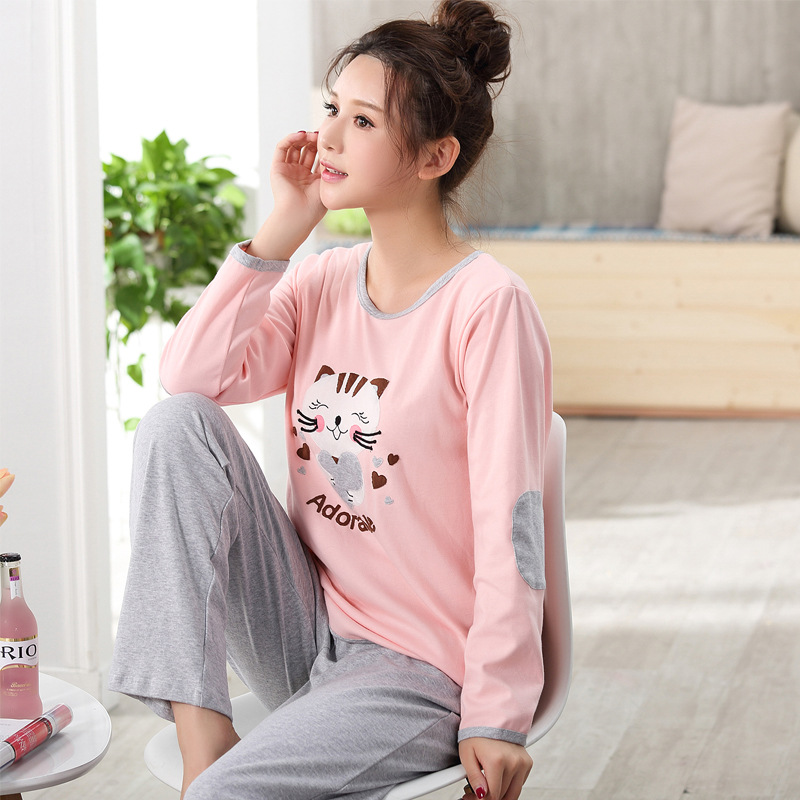 Spring Fall Fashion Cotton Nursing Dress Breastfeeding Clothing for Feeding Breast nightwear Maternity Dresses maternity pajamas