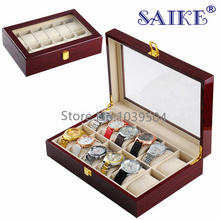 Free Shipping 12 Grids Brand Watch Storage Box Top Quanlity Watch Display Box Red High Light