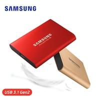 Samsung Портативный SSD T5 250 ГБ 500 1 ТБ 2 ТБ внешний твердотельный накопитель HD жесткий диск USB 3,1 Gen2 для ноутбука, настольного компьютера