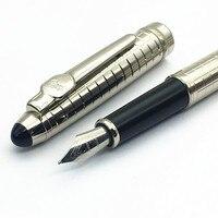Благородный JINHAO 163 Металл Серебряная сетка фонтан ручка высокого качества ручка BLANCE чернила MB питания
