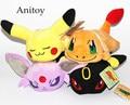 4pcs/lot Anime Monsters Charmander Umbreon Flareon Espeon Plush Dolls with Chain Stuffed Soft Toys Kids Gift Pendants AP0100