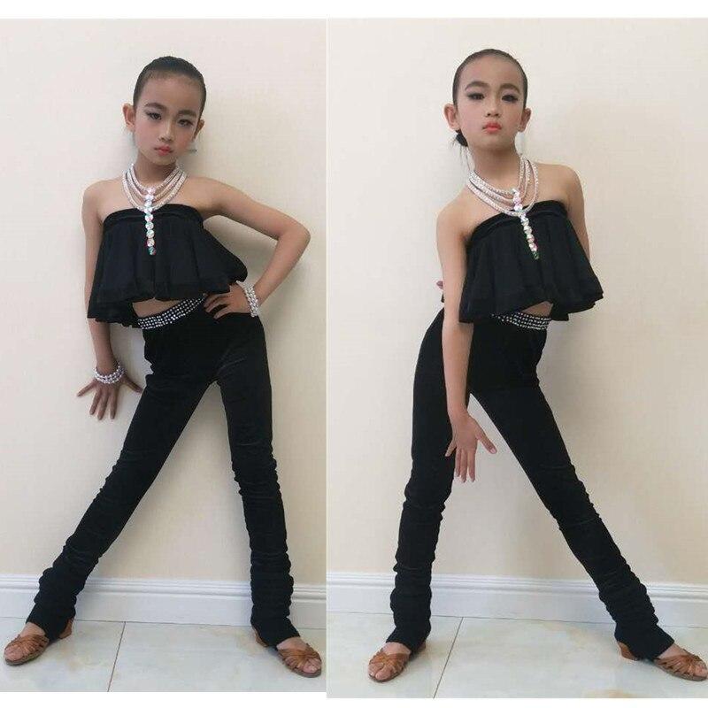 cha cha tango samba latin dance costumes for girls kids tassel latin competition dress modern dance costume tops pants