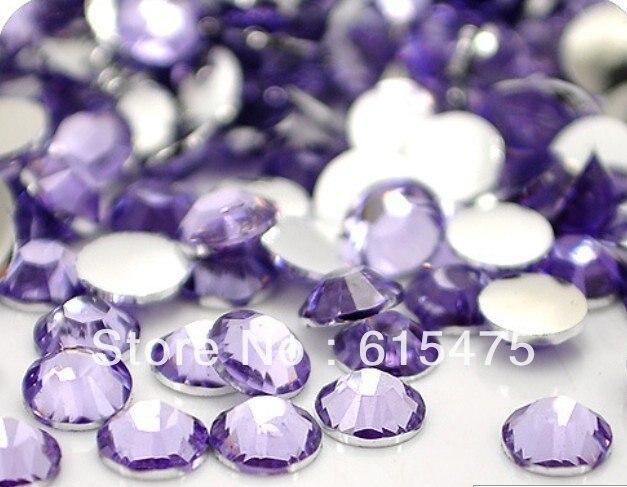 5mm Lt.Amethyst Color SS20 crystal Resin rhinestones flatback,Free Shipping 30,000pcs/bag