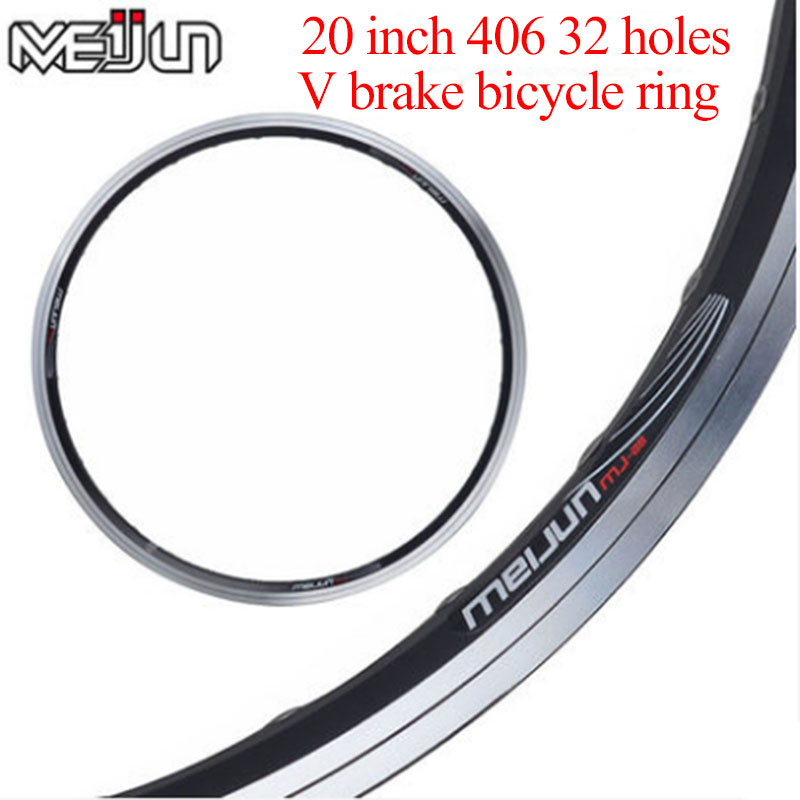 2 color wheel folding bicycle ring 20 inch 406 double aluminum alloy V brake 32 hole bicycle rim