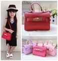 Kawaii baby girls handbags Fashion children girl PU messenger bags gifts candy color shoulder/crossbody bags for kids girls