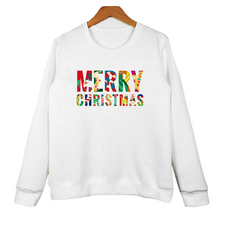 Christmas Letter Print Sweatshirt Plus Size Women Off White Hoodies Men Casual Tracksuit Top Designers Moletom W-R10004