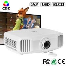 Top rank 1080p home theater projector 3 lcd video projector multimedia hdmi full hd mini 3d pico wifi android projector
