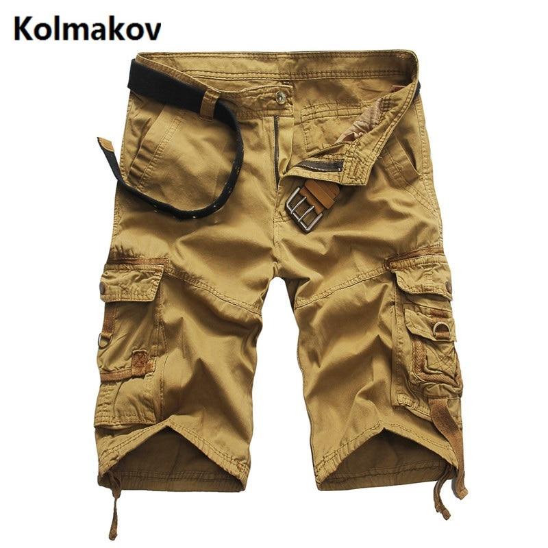 Kolmakov 2017 New arrival cotton summer fashion cotton khaki cargo short men men s casual shorts