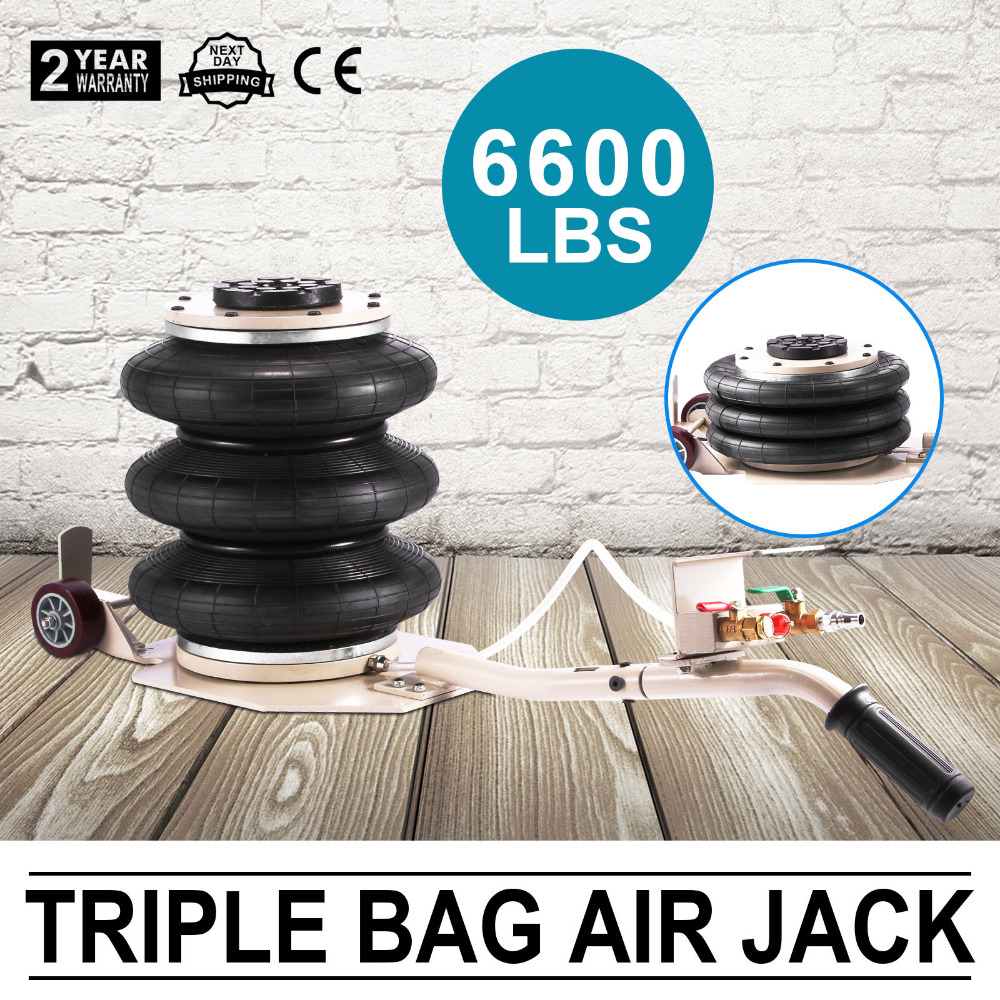 Triple Bag Air Jack 3 Ton Lift Jack Pneumatic Air Jack 3T 6600LBS With Free Shipping To Europe