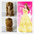 Princess Beauty And The Beast Belle Wig  Long Curly Brown Synthetic Wig