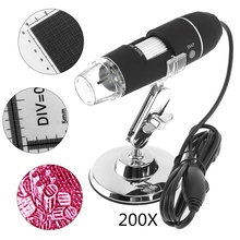 Cheap price New Portable 200X USB Adjustable Handheld Digital Microscope with Stand and 8 LED Light for Windows 2000 / 2003 / XP / 7 / 8
