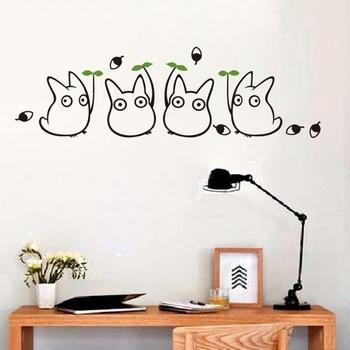 Totoro fototapeta vinilo totoro sąsiad Totoro naklejki ścienne dekoracja wnętrz śliczne mój sąsiad Totoro naklejka ścienna
