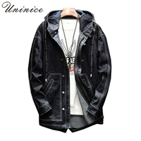 2018 New Korean Men Retro Jeans Jacket Male Plus Size 5XL WIND Teenager Punk Hip Hip