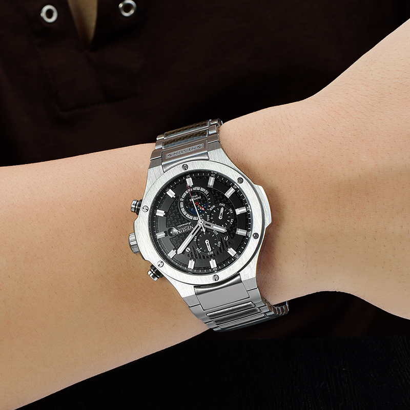 NESUN New Men Fashion Business Automatic Mechanical Wristwatches Stainless Steel Band Waterproof Sport Watches Relogio Masculino sneakers