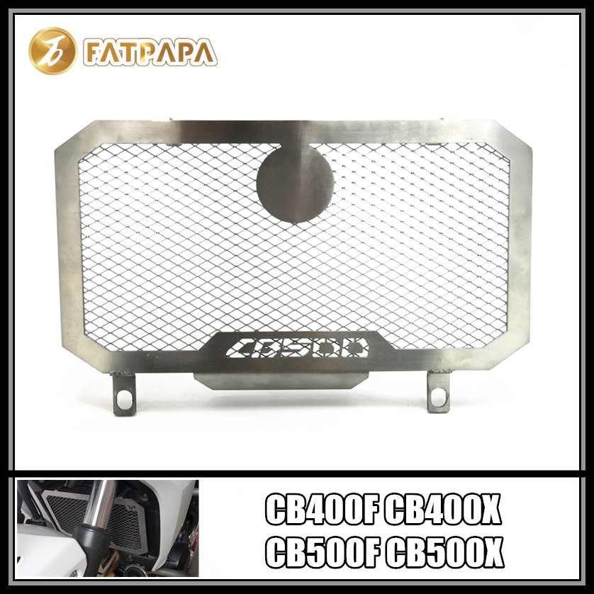 Motorcycle stainless steel cooling network radiator protection Fit For Honda CB400F CB400X CB500F CB500X silverMotorcycle stainless steel cooling network radiator protection Fit For Honda CB400F CB400X CB500F CB500X silver