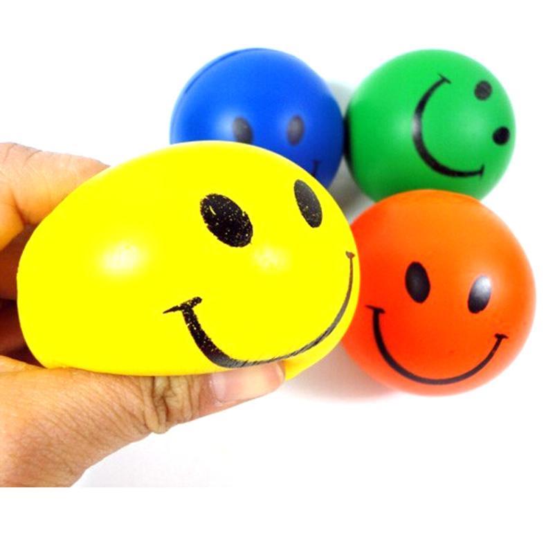Soft Anti stress Balls Toys Outdoor Activities Fun & Sports Children grip train Dog Pet PU Elastic smile Face Balls Kids Toys
