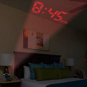 Современные цифровые часы-проектор с ЖК-дисплеем, временная температура, будильник, Настенный проектор