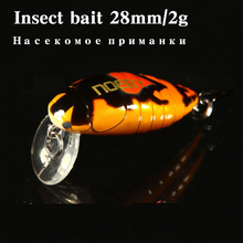 Noeby insect hard bait grasshopper  Fishing lure 1 pcs 28mm/2g  Insect Crankbait VMC Treble Hook