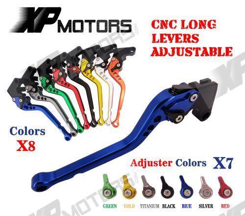 CNC Longa Alavanca Da Embreagem Freio Ajustável Para Suzuki GSXR600 GSXR750 GSXR1000 TL1000S GSR600 GSR750 SFV650 GW250 DL650 V-Strom