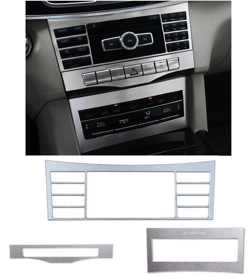 Console centrale ajuster le couvercle du cadre du bouton 3 pièces pour Mercedes Benz classe E W212 2014-2015