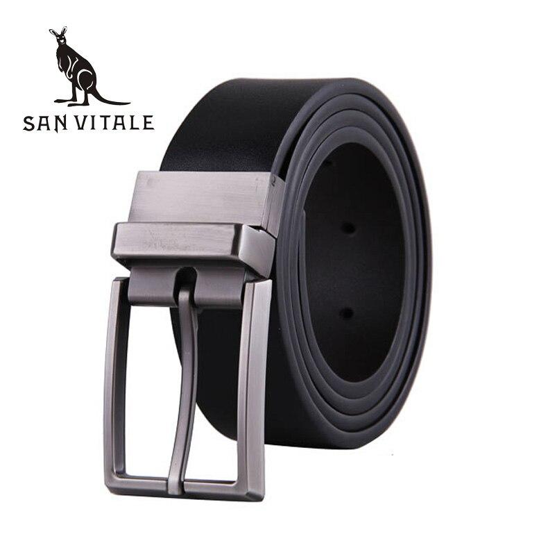 2016 Fashion designer belt Pin Buckle Leather Mens Belts Luxury For Men Men's Luxury Brand Fashion Leather Belt free shipping