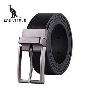 2017 Fashion designer belt Pin Buckle Leather Mens Belts Luxury For Men Men's Luxury Brand Fashion Leather Belt free shipping(China)