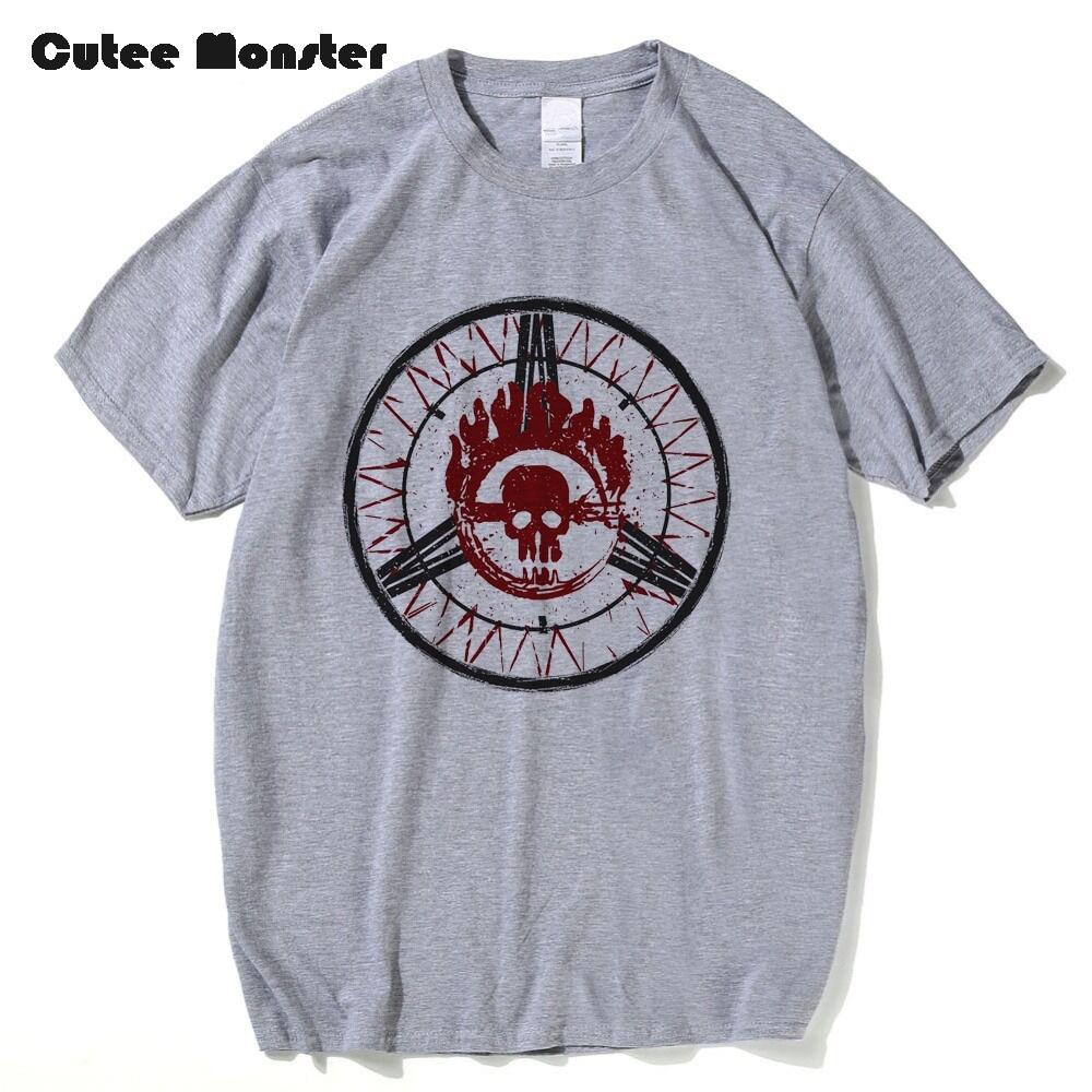 T-shirt logo design - Mad Max Logo Design T Shirt Men 2017 Summer Movie Circle Skull Printed T Shirt