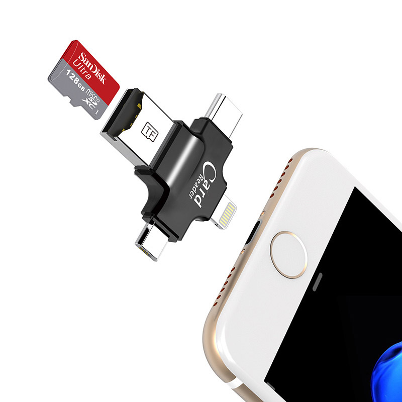 4 in 1 sandisk <font><b>32GB</b></font> 64GB Stick OTG USB-Stick für <font><b>iPhone</b></font> 5/5 s/ 5c/<font><b>6</b></font>/<font><b>6</b></font> Plus/7/ipad OTG kartenleser Stift Stick 16GB image