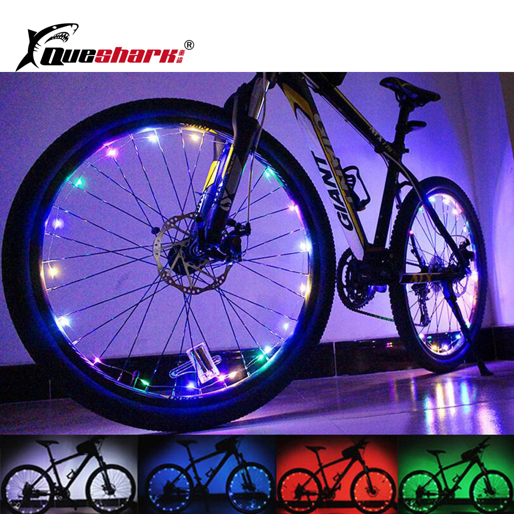 20 LED Waterproof Colorful Bicycle Lights MTB Road Bike Wheel Light Cycling Wheel Signal Tire Spoke Light okulary wojskowe