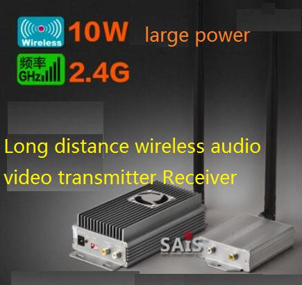 2.4G 10W 4CH Large Power Wireless transceiver vidoe audio Transmitter Receiver for drone FPV transceiver