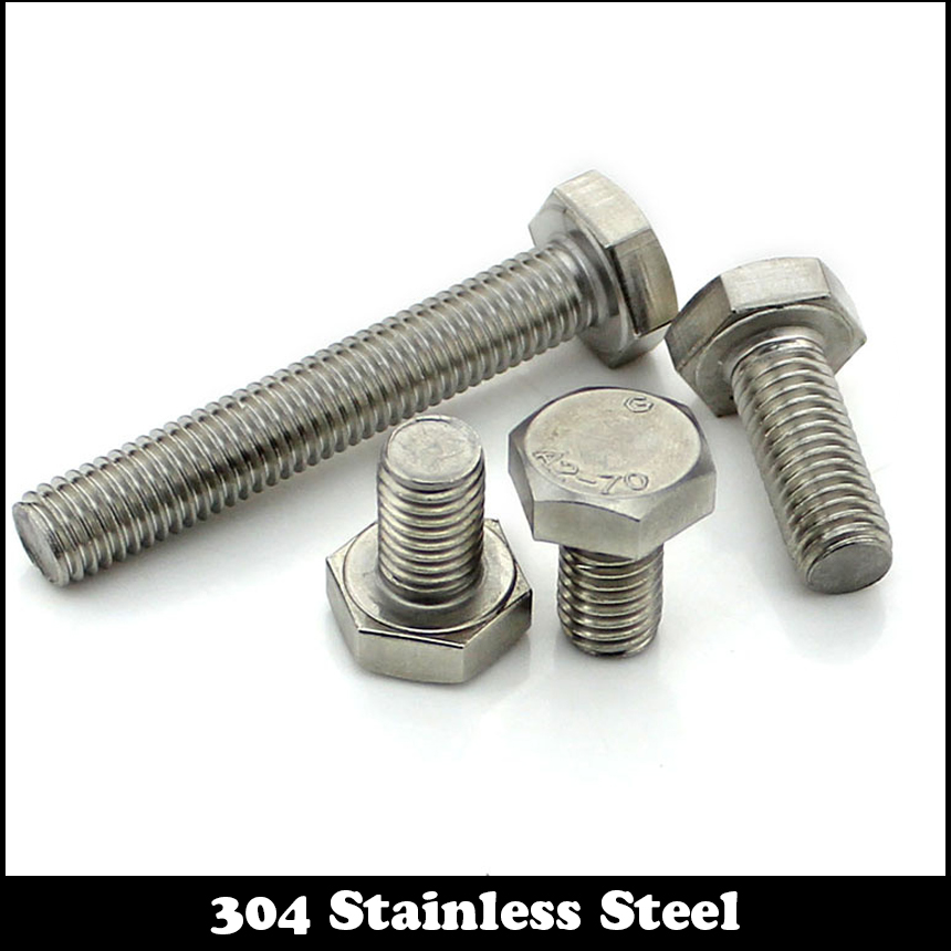 8pcs 1/4-20 BSW Thread1-1/4  1-1/4 Inch Length 304 Stainless Steel BSW Thread Bolt Unified Hex Hexagon Screw 1 4