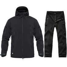 Men Tactical Military Uniform Clothing Waterproof Army Combat Suit Tactical Pants   Men's Camouflage Hunt Clothes