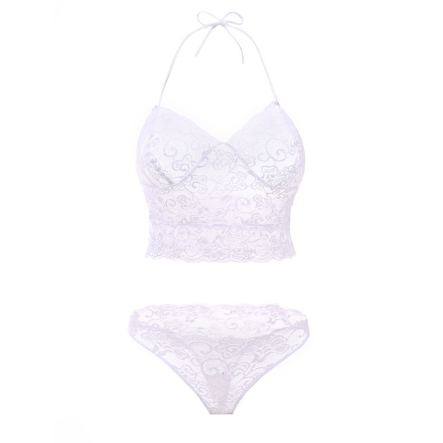 Women's Roses Lace Bralette and Panties Set