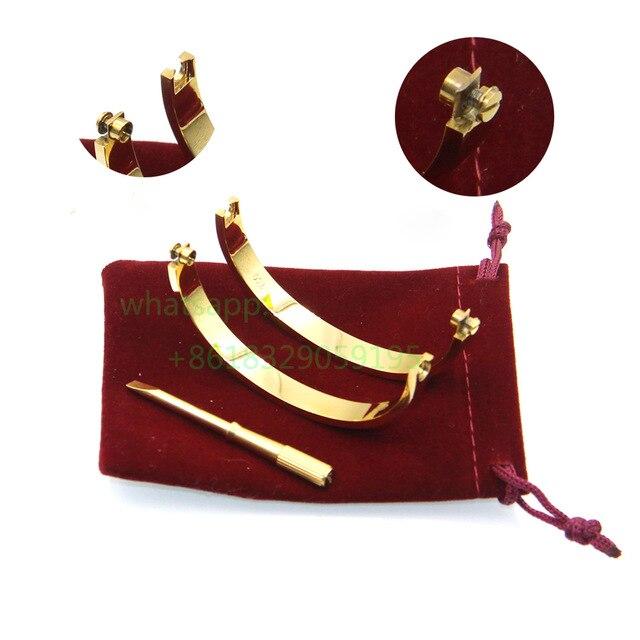 Top Titanium Steel Couple Jewelry Love Bracelets Bangle Women Men Logo Bracelet Bijoux Femme Pulseira Feminina