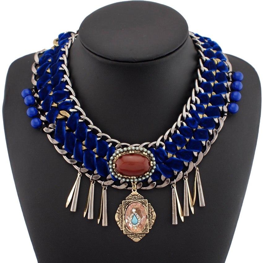 cd1f879b71f3 Uken grande moda vintage Departamento Brunet Maxi joyería cristal Colgantes  Lint WRAP retro chunky declaración Collar para las mujeres