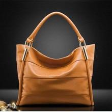 Hot!!! 2015 neue Frauen Handtasche Aus Echtem Leder Tasche Streifen Umhängetasche Mode Frauen Leder Handtasche Lässig Tote Vugue Bolsas