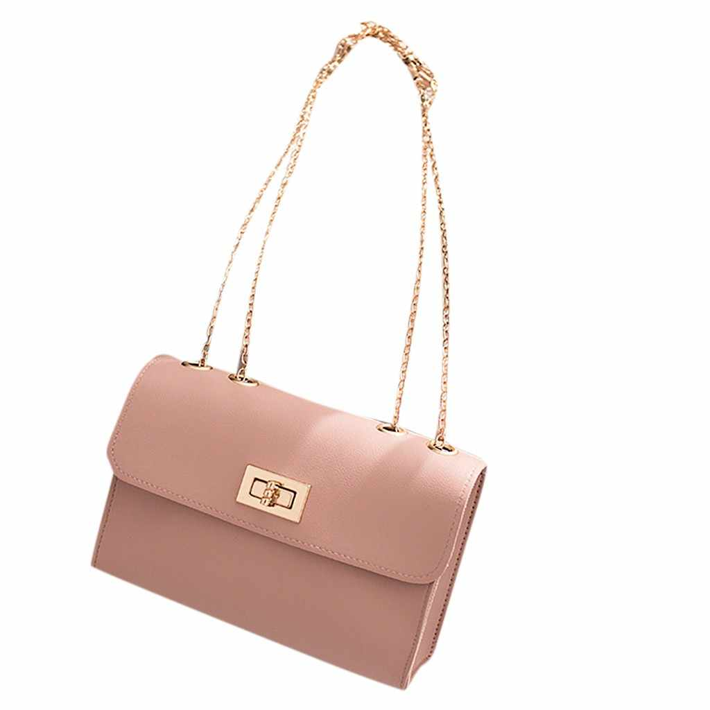 2019 Fashion Lady Shoulders Small Letter Purse Mobile Phone Messenger Bag solid small hot DropShipping