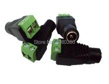 100 adet/grup 5.5mm x 2.1mm DC dişi konnektör, DC güç konnektör adaptör jak, ücretsiz kargo