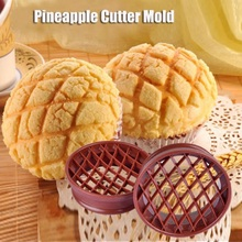 Pineapple Bread Mold Cake Mould Pineapple Bun Cutter Mold Baking Tool kitchen plastic pineapple style bread mold coffee