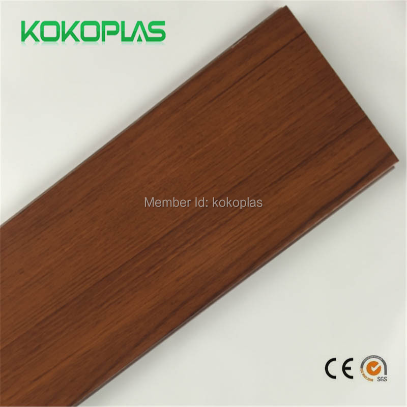 Wood PVC Self adhesive vinyl tiles resilient sheet flooring plastic ...