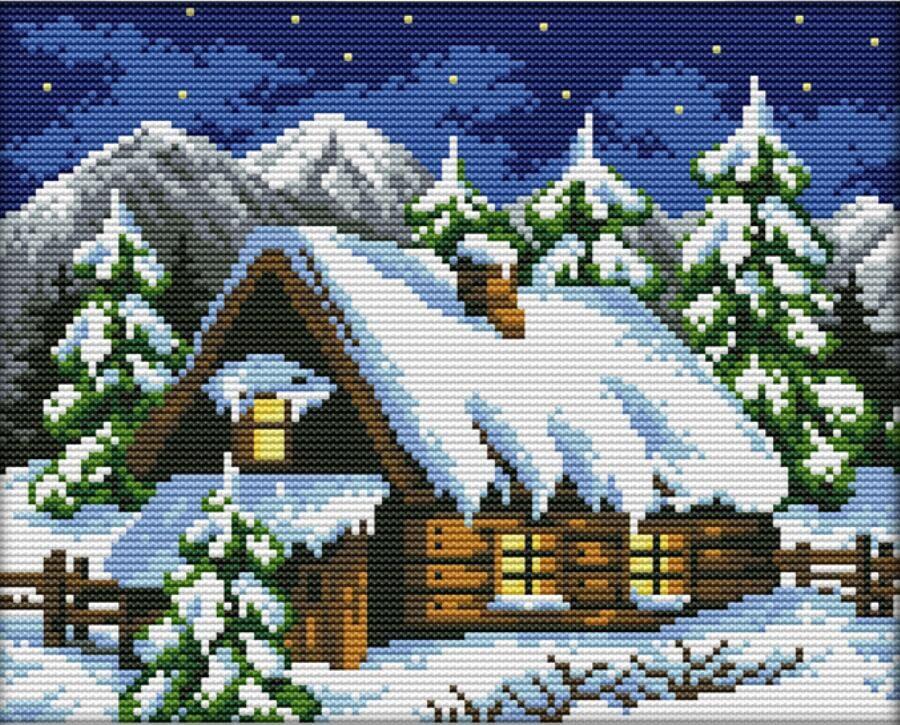 Вышивка снег бесплатно