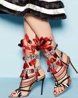 Sestito/2018 г.; женские пикантные туфли на высоком каблуке, украшенные стразами и перьями; обувь для подиума; женские сандалии разных цветов с отк