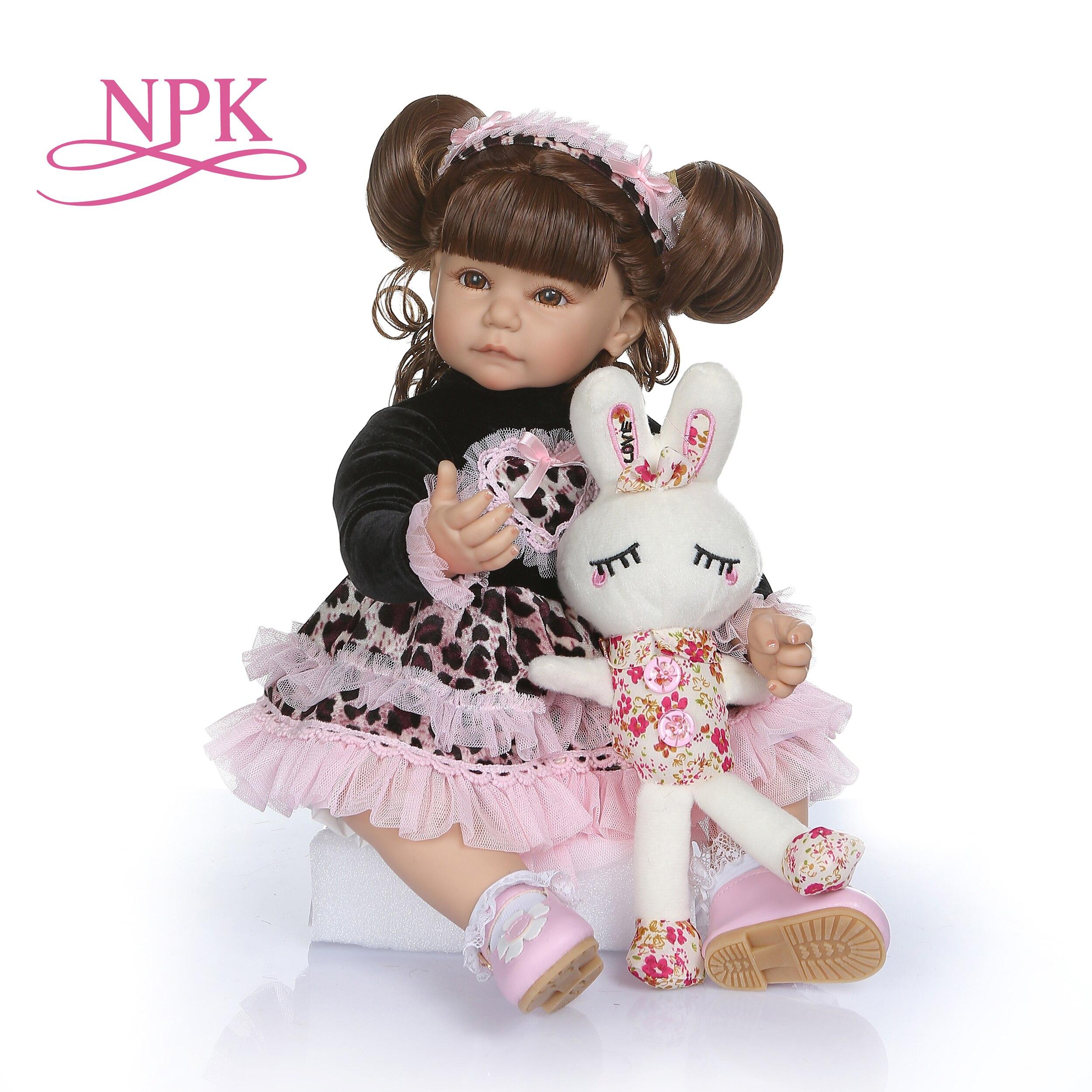 50 センチメートルロングカーリー髪幼児の人形ソフトシリコーンベベ人形 realista おもちゃ子供のための brinquedos アドラ  グループ上の おもちゃ & ホビー からの 人形 の中 1