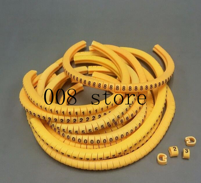 600pcs Ec 1 Cable Wire Markers Letter 2 5mm0 To 9