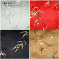 Silk Brocade Jacquard Custom Silk Cheongsam Beautiful Quilt Fabrics 6 Color Large Bamboo Costume/100*75cm