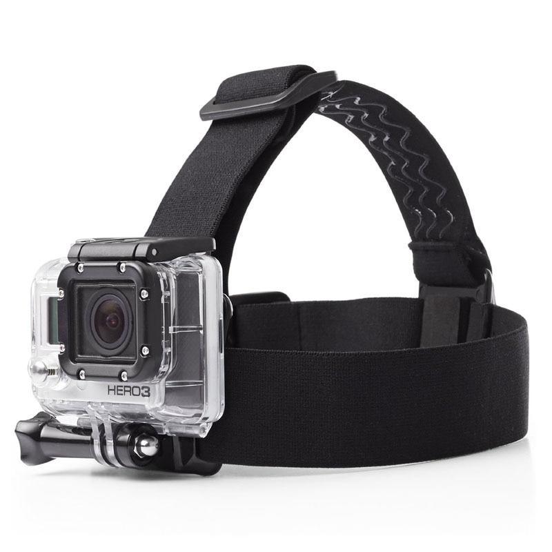 10pcs/lot Elastic Adjustable For Gopro Headband Helmet Head Strap Belt Mount for Gopro Hero 2 3 3+ 4 Gopro Camera Accessories